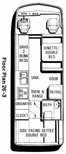 gmc motorhome floor plans